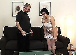 The mature hottie has always wanted a younger man and her hubby provides it for birthday